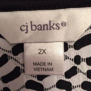 CJ Banks Tops - Ladies 3/4 sleeve tunic